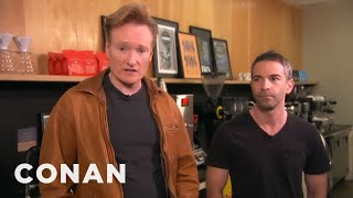 Conan Takes Jordan Schlansky Coffee Tasting - CONAN on TBS(CONAN Highlight: Jordan takes his caffeine very seriously, so Conan tests his espresso knowledge at LA's Intelligentsia Coffee. More CONAN ..., 2014-11-19T07:23:32.000Z)