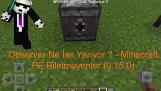 Observer Ne İse Yarıyor ? - Minecraft PE Bilinmeyenler 0.15.0