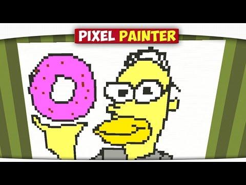 ч.02 Закат Солнца и Гомер Симпсон - Minecraft Pixel Painter