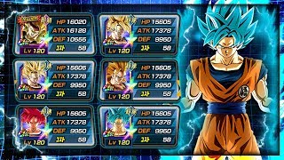 100% Rainbow star FULL transforming Goku team showcase! | Dragon Ball Z Dokkan Battle