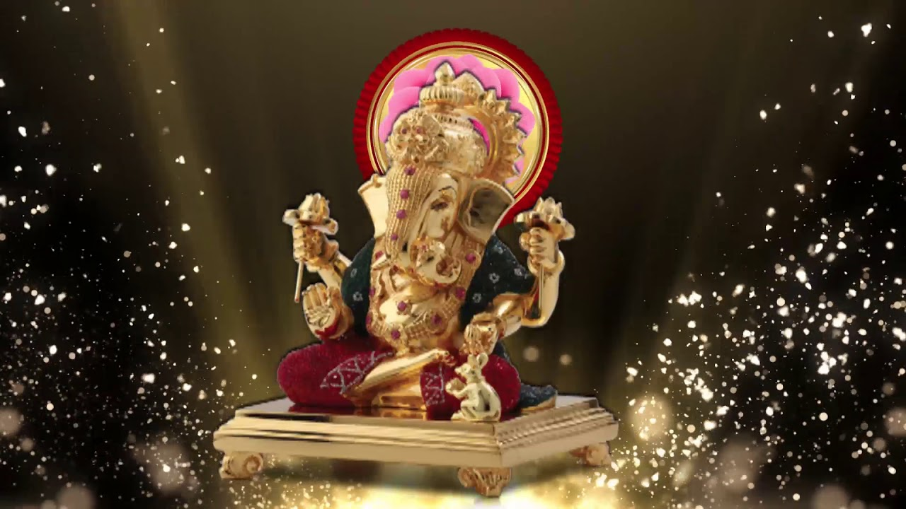 Free Hd Gold God Background Wedding Background Ganesh Animation
