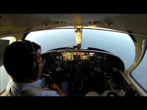 VFR flight in a Citation V jet - cockpit view with live ATC!