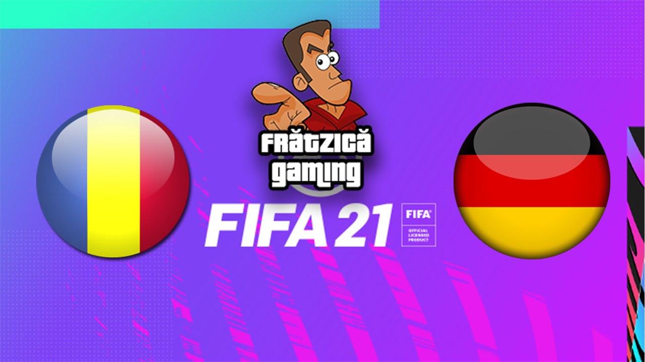 Romania - Germania FIFA 21 - Fratzica Gaming