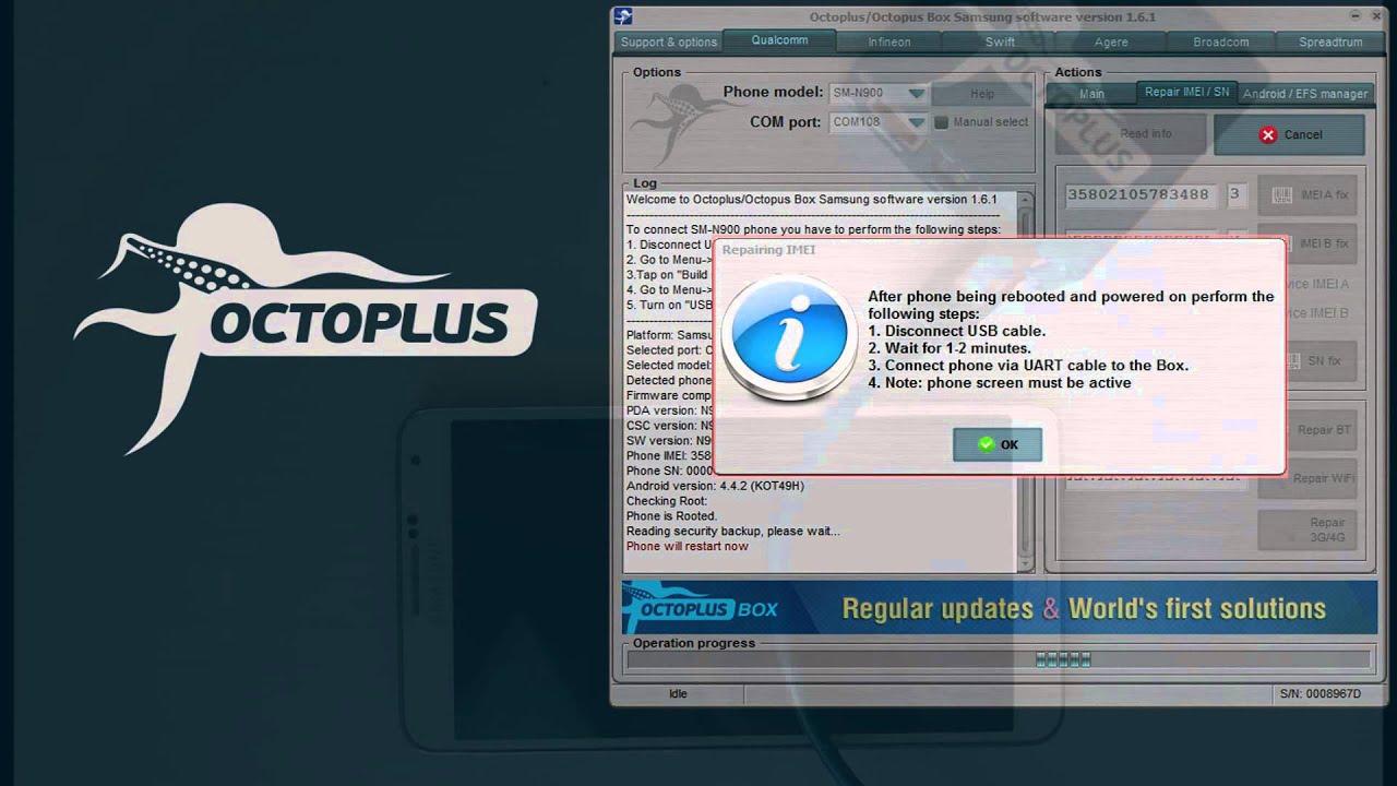 Samsung SM-N900 Repair IMEI with Octoplus Box