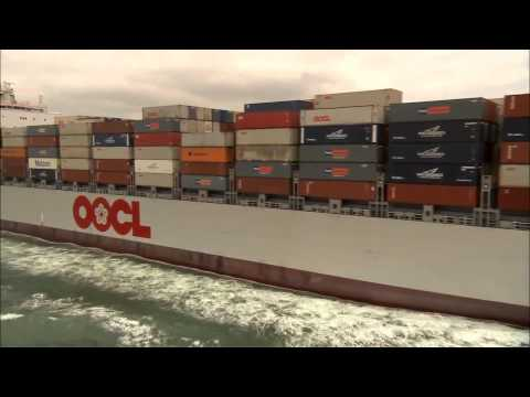 MegaStructures   Megaship, OOCL Atlanta documentary english Part 1