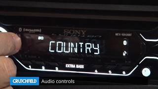 Sony MEX-XB120BT Display and Controls Demo   Crutchfield Video