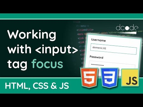 Focusing Input Fields With HTML, CSS And JavaScript - Web Design Tutorial