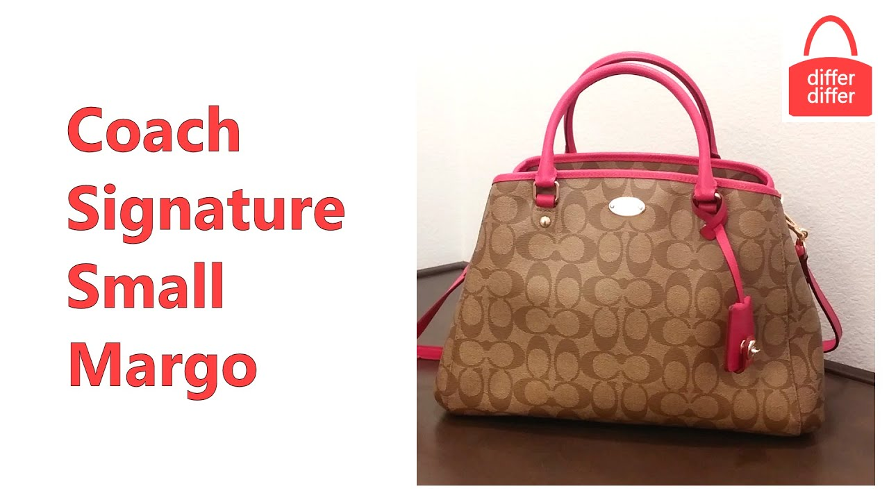 17256cd79 Coach Signature Small Margo Carryall 34608 - YouTube