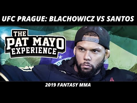 2019 UFC Prague DraftKings Picks — UFC on ESPN+ 3 Blachowicz vs Santos Fight Previews