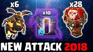6 Lava 10 Max Bat Spell 28 Balloon With Stone Slammer :: NEW TH12 WAR 3 STAR ATTACK STRATEGY 2018