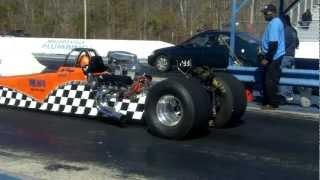 dragster vs honda civic civic gets owned bad ford e350 diesel cargo vs new camaro