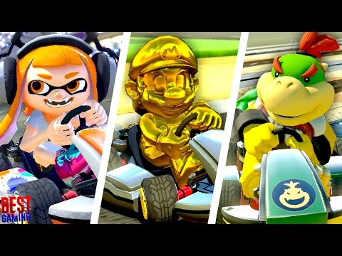 Mario Kart 8 Deluxe - All 6 New Characters 150cc Gameplay!
