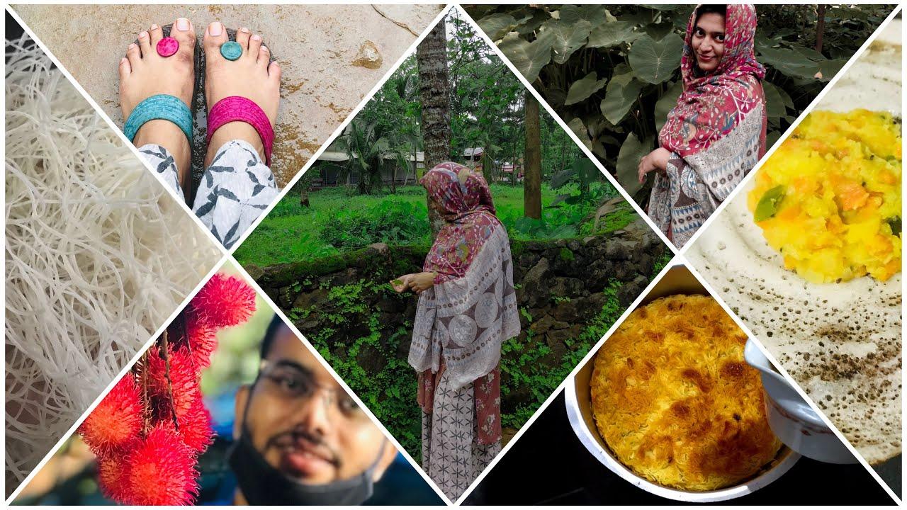 A DAY IN MY LIFE|താത്താടെ വീട്ടിൽ ഒരു ദിവസം|Recipe:മസാല ദോശ|Authentic Kunafa|Qubus|Pregnancy Life😍