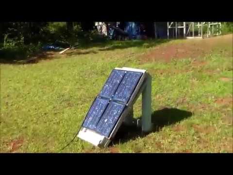 Solar Panels Running A Refrigerator