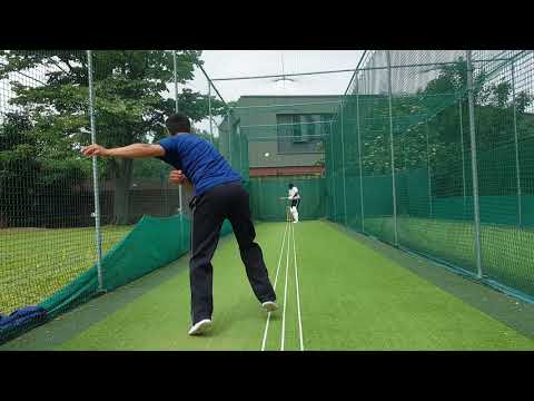 Shareef bowls an over to Srinath in the Nets!