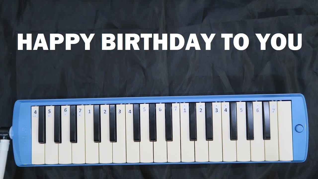Not Pianika Happy Birthday To You Gampang Youtube