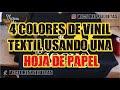 4 colores de vinil textil usando una hoja de papel