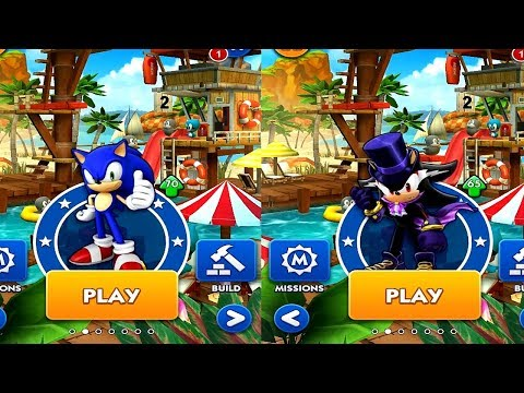 Sonic Dash SONIC VS VAMPIRE SHADOW Android IPad IOS Gameplay HD