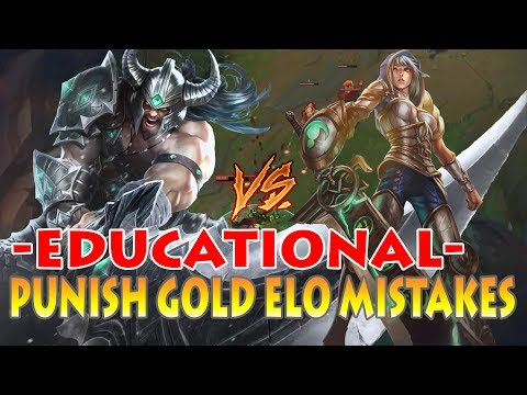 TRYNDAMERE VS RIVEN: SMURFING GOLD ELO - MISTAKES OF GOLD PLAYERS 101 [Patch 7.11]