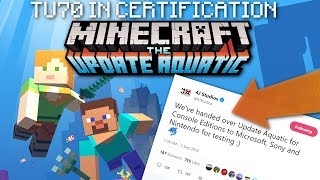 Minecraft - TU70  in CERT. ! Release Date ?!? ( UPDATE AQUATIC ) PS4 / Xbox / Wii U