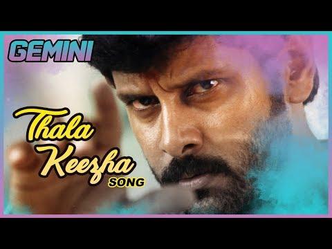 Gemini Tamil Movie Songs | Thala Keezha Video Song Vikram | Kiran Rathod | Barathwaj