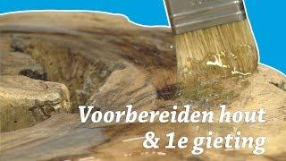 Salontafel maken met zwevend hout en Epoxy Resin! Video 2/4 DIY