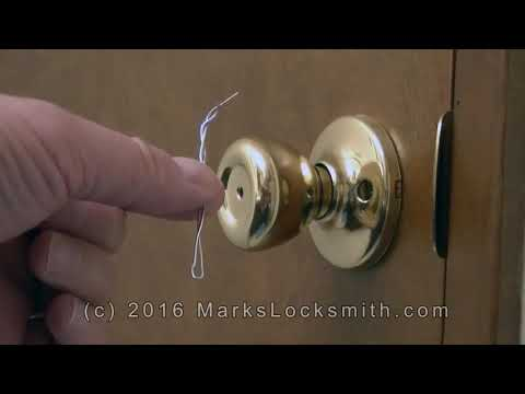 how-to-unlock-the-kwikset-bedroom-/-bathroom-lock-with-a-paper-clip