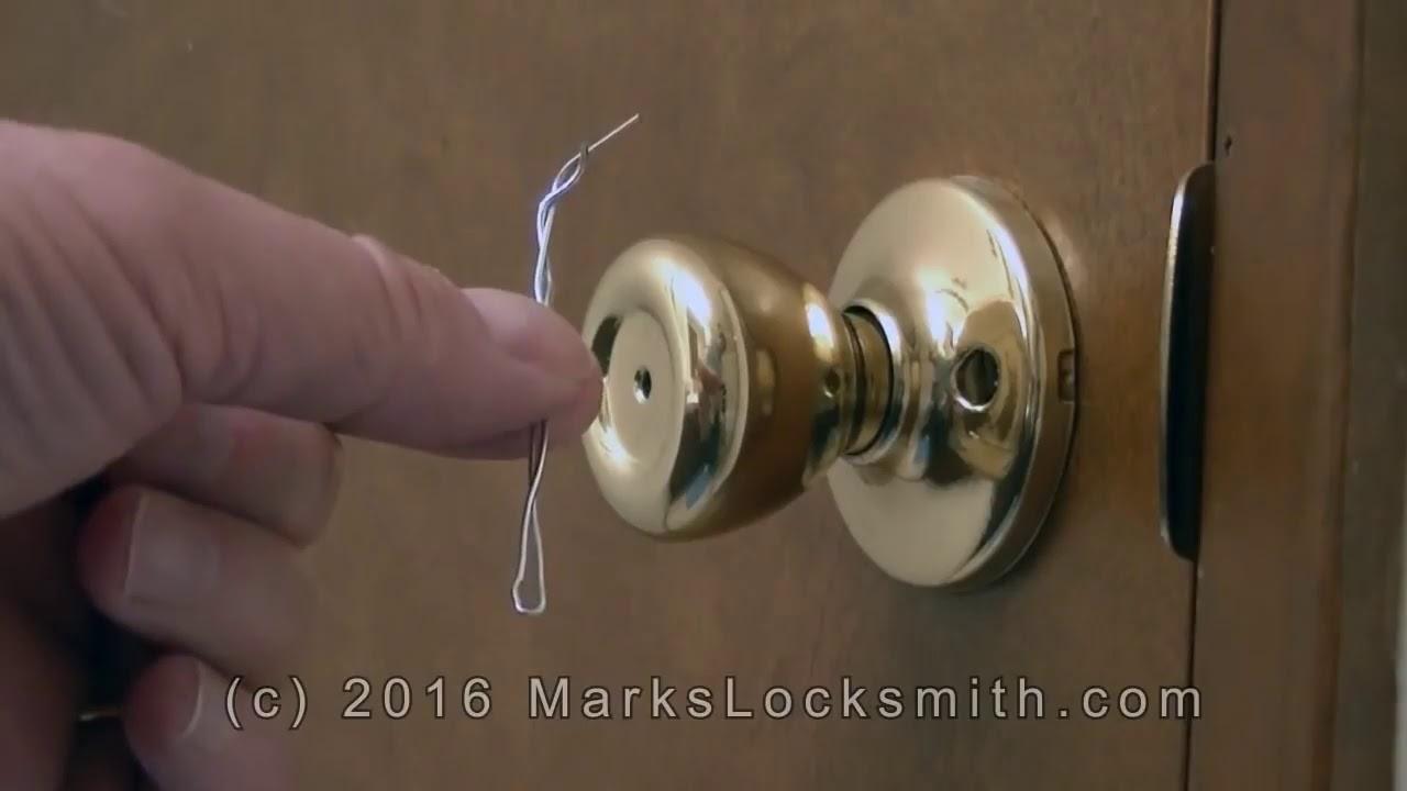 How To Unlock The Kwikset Bedroom / Bathroom Lock with a Paper