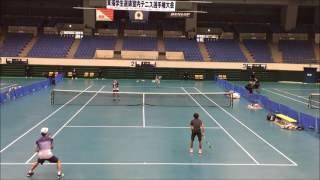 平成28年度 東海学生室内テニス選手権大会 2016 準決勝 島田達也・松本...