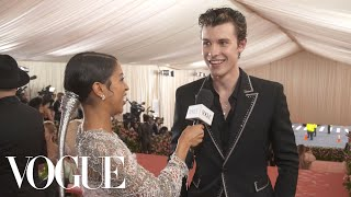 Shawn Mendes on His Gold-Streaked Hair for the Met Gala | Met Gala 2019 With Liza Koshy | Vogue