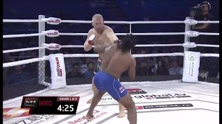 Рамо Тьерри Сокуджу vs Сергей Харитонов, тяжелейший нокаут на M-1 Challenge 80 / Hard knockout