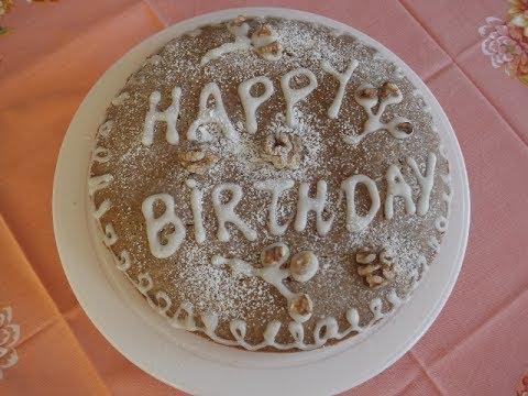 WALNUT AND ALMOND VEGAN CAKE