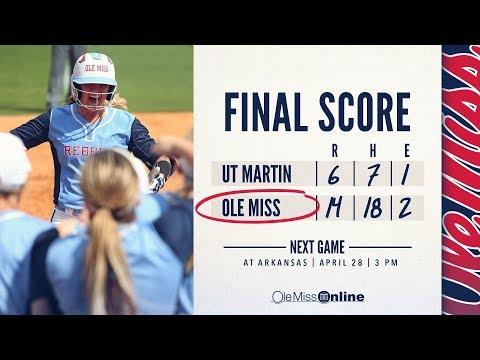 HIGHLIGHTS   Ole Miss defeats UT Martin 14 - 6 (04-25-18)