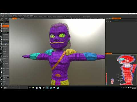 Texture painting in 3D Coat p1 Unwrapping and uvsets YouTube