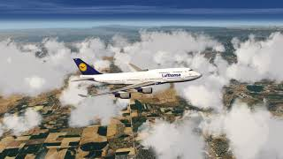 Lufthansa 747-400 flying over Colorado ++ Aerofly FS 2