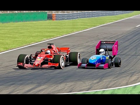 Ferrari F1 2018 vs Formula Student - Monza