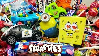 Driving in My Car Nursery Rhyme A lot of Candy for children Learn Colors