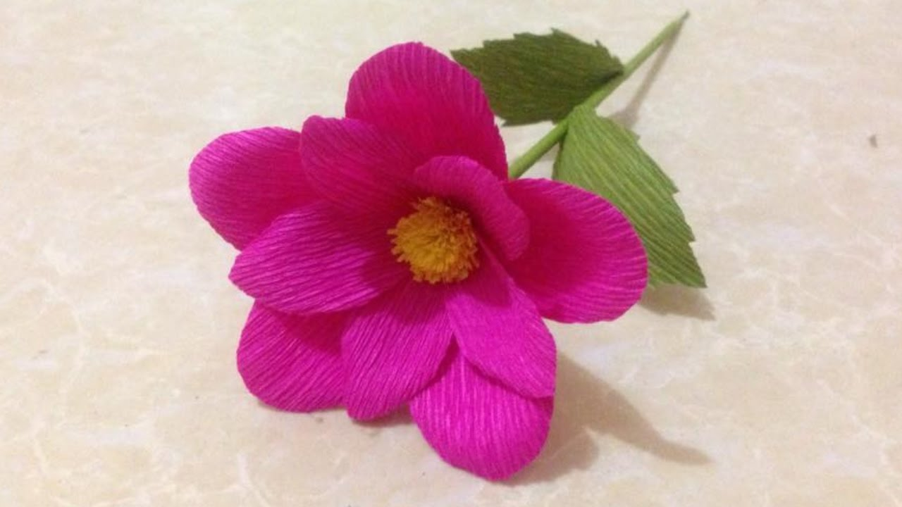 How to make simple crepe paper flowers flower making of crepe how to make simple crepe paper flowers flower making of crepe paper paper flower tutorial youtube mightylinksfo