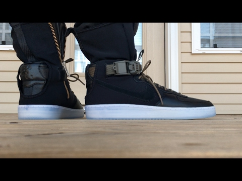 NIKELAB X ACRONYM AIR FORCE 1 DOWNTOWN HI ON FOOT LOOK!!!