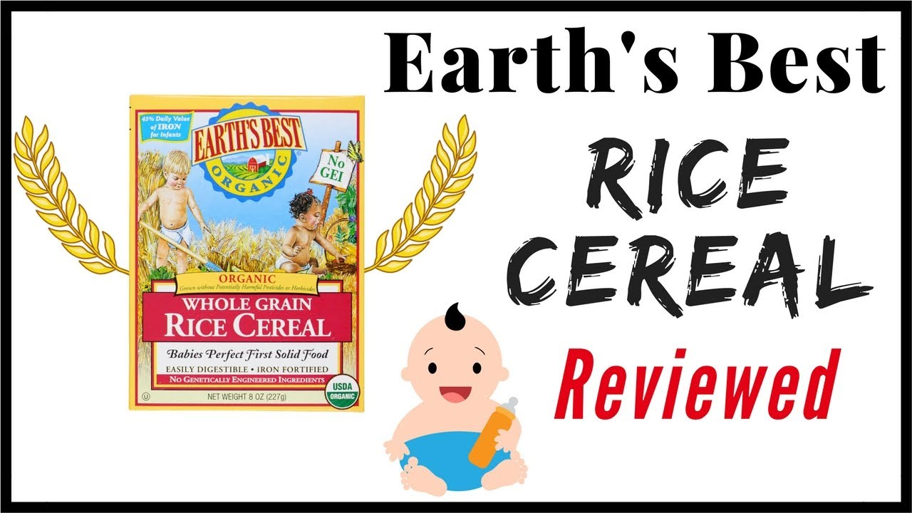 Earth S Best Rice Cereal Baby Food Review Youtube