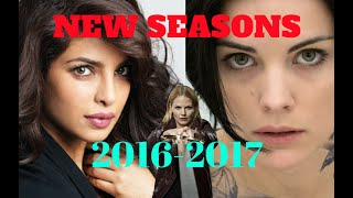 NEW Seasons TV Series 2016-2017  NUOVE Stagioni delle SERIE TV pi amate