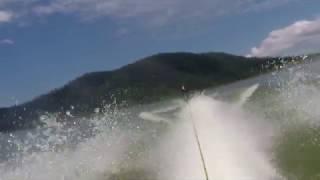 Jet ski wake-boarding