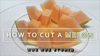 HOW TO CUT MELON[CANTALOUP] 멜론 쉽게 자르는법