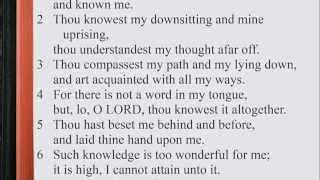 Psalm 139:1-24 ♪♩ KJV Scripture Song, Full Chapter Verbatim