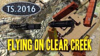 Train Simulator 2016 Baldwin B4D Flying After Derail On Clear Creek