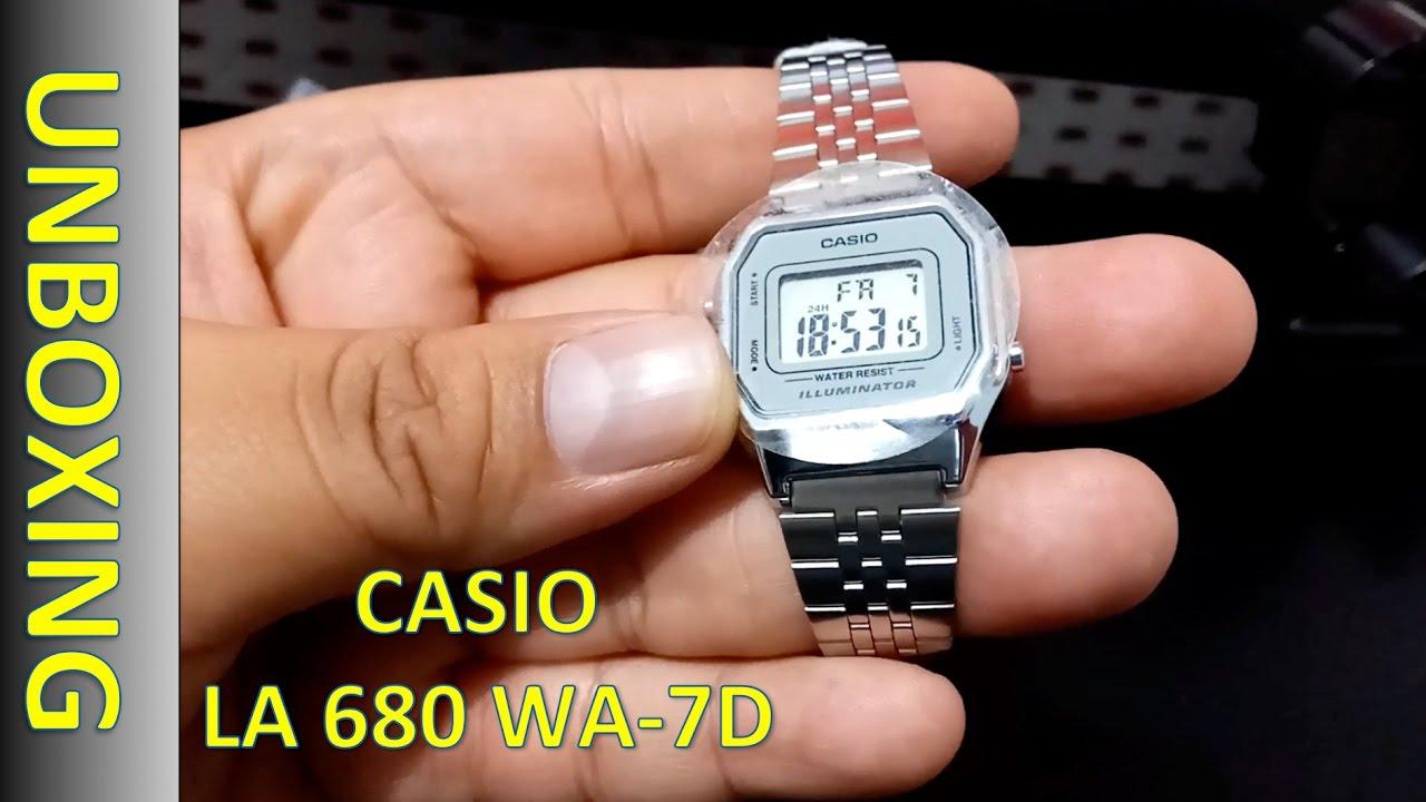65fbcb7e36d0 Casio LA680WA-7D Lady s Watch - Reloj Digital Dama - YouTube