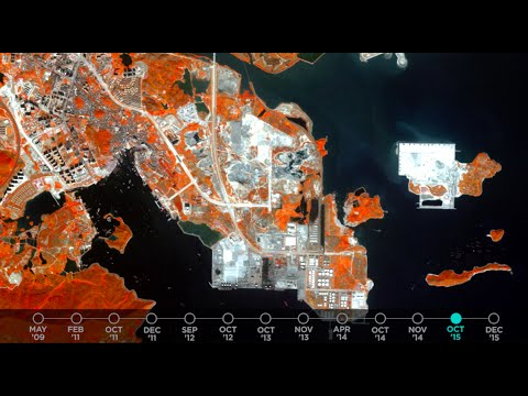 Urban expansion in Guangdong, China