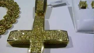 lemonade combo 7 lab made yellow diamond cluster chainconvex crossearrings video gucci mane