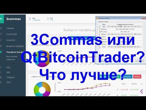 Торговые терминалы QTBitcoinTrader  и 3Commas Что лучше