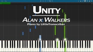 Alan x Walkers - Unity (Piano Cover) Synthesia Tutorial by LittleTranscriber